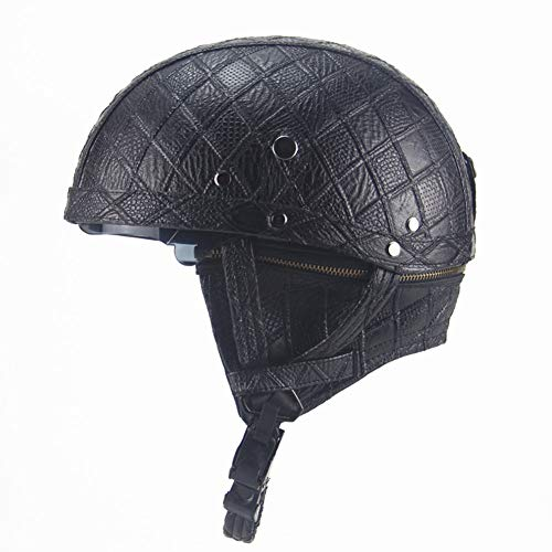 DJCALA Helmen, Warrior, Motorhelm met Zonbescherming voor mannen en vrouwen, Verstelbare grootte, Halfgezicht, voor fiets, Cruiser, Chopper, Bromfiets, Scooter, ATV, DOT Certificering