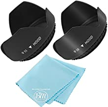 55mm and 58mm Digital Tulip Flower Lens Hood for Nikon D3500, D5600, D3400 DSLR Camera with Nikon 18-55mm f/3.5-5.6G VR AF-P DX and Nikon 70-300mm f/4.5-6.3G ED