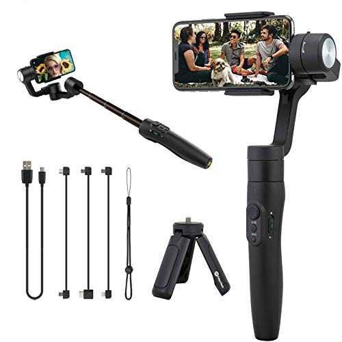 Feiyu Tech Vimble 2s Extendable Handheld 3-Axis Gimbal Stabilizer for Smartphone included tripod stand
