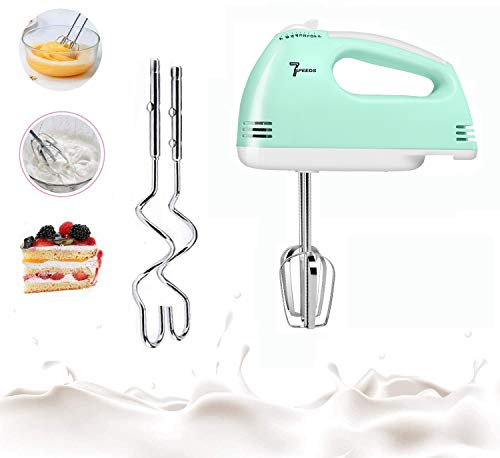 MOSAJIE Hand Mixer Electric, 2021 Upgrade Multi-Speed Hand Mixer, Stir The Ingredients with A Simple Push of Switch- No Sharp Edge, Food-Safe for Egg Whisk,Cake Mixer,Milk Frother,Bread Maker,Beater