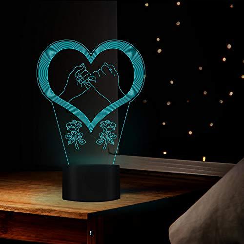 Nachtlicht-Liebestreffen-Rosen-Form-Nachtfarbgeburtstags-Erntedank-Geschenk Für Liebhaber-Familien-Dekoration