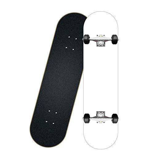 Taste life Anfänger Fliegen Skateboard Komplett 31 Zoll-reines weißes Muster
