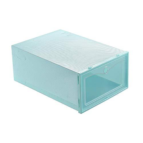 MagiDeal Caja de Almacenamiento de Zapatos Apilable, Organizador de Zapatos de Plástico Transparente Plegable, Necesita Ser Ensamblado - Verde, Individual