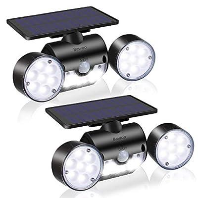 Bawoo LED Outdoor Solar Motion Sensor Lights, I...