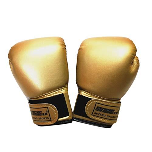BESPORTBLE 1 Paar Kinder Boxhandschuhe Perlglanz Reine Farbe Muay Thai Handschuhe Sport Punsch Sandsack Handschuhe Boxzubehör für Jungen Mädchen Starter Golden