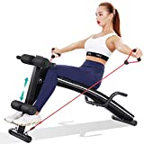 Sit Up Bench Ab Workout Exercise For Home Gym, MaxKare Multifunctional Bench Press Recline...