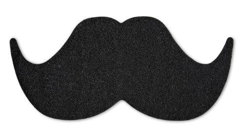 Mat The Moustache Felpudo de Entrada con diseño de Bigote, Negro