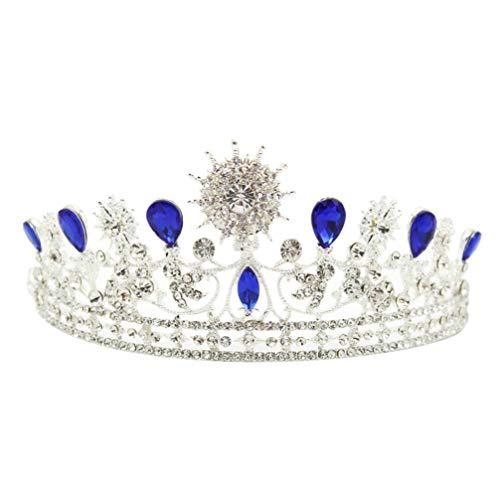 Lurrose tiara de cristal y corona tiara nupcial rhinestone queen crown tocados...