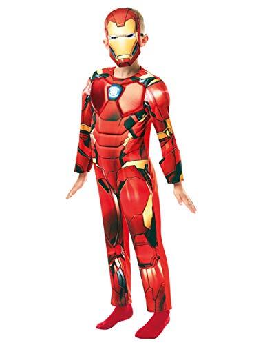 Rubies Marvel Avengers Deluxe-Disfraz Infantil de Iron Man, Color rosso, medium (640830M)