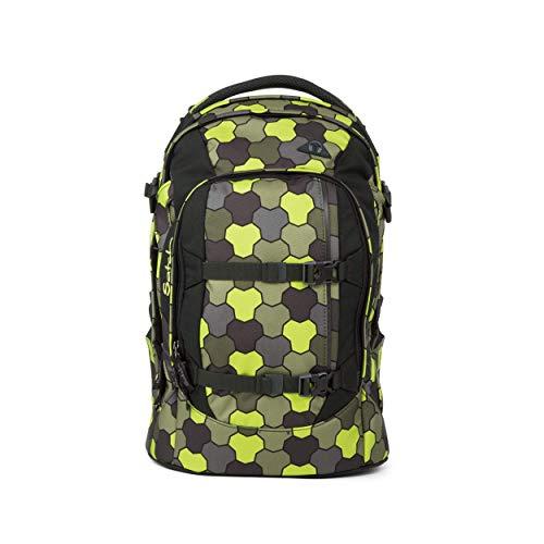 satch Pack Jungle Flow, ergonomischer Schulrucksack, 30 Liter, Organisationstalent, Grün