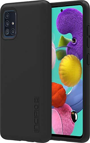 Incipio DualPro Cover für Samsung Galaxy A51 - von Samsung zertifizierte Hülle (schwarz) [Extrem robuste Handyhülle I Stoßabsorbierendes Hülle I Soft-Touch Beschichtung I Hybrid] - SA-1037-BLK