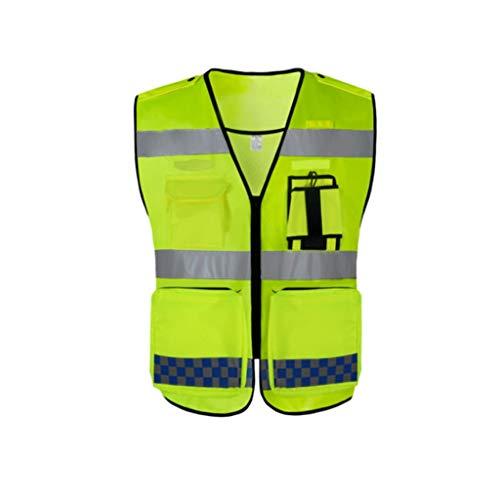 ZNZN Oxford Tela Reflectante Traje, Tiras Fluorescente Amarillo Reflectante Chaleco de Seguridad con reflexivo Puede ser Utilizado por los Hombres y Las Mujeres Chalecos de Seguridad