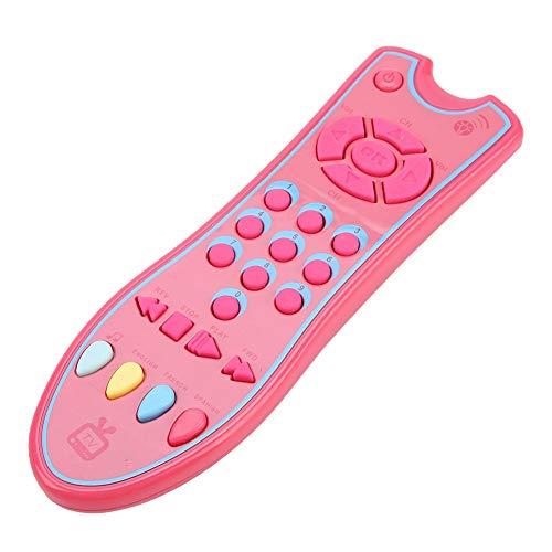 Juguete seguro para el teléfono del bebé Juguetes musicales para bebés no tóxicos Juguete para bebés para bebés(Pink)