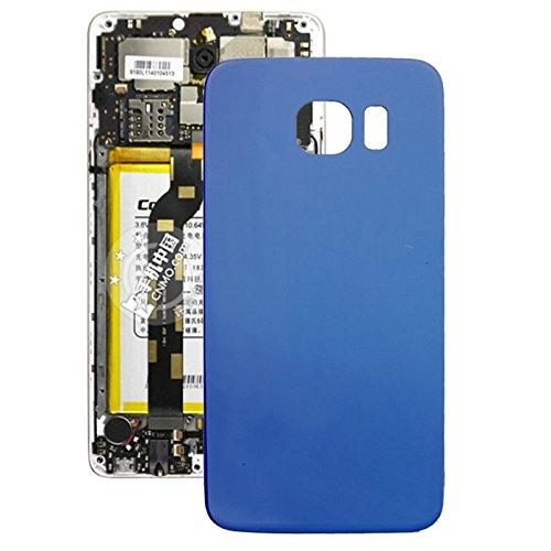 YUEZHIMY Intercambiable para Piezas dañadas IPartsBuy reemplazo de la batería de la contraportada for Samsung Galaxy S6 Accesorios (Color : Blue)