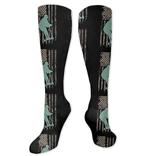 okstore1988 Awesome Patriotic Usa Scooter Socken Kompressionsstrümpfe Kniehohe lange Strümpfe 19,7 Zoll (50 cm) Für Frauen & Männer Sport und Daily Wear Geschenksocken