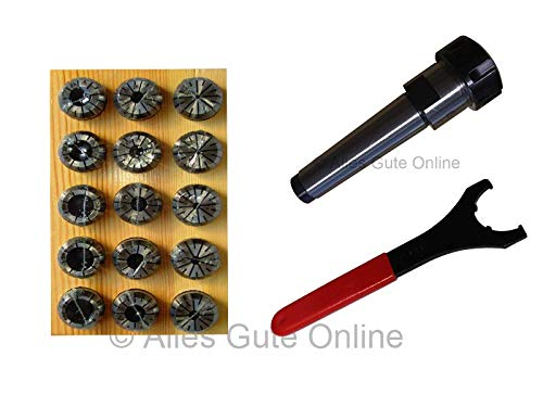 Spannzangenfutter MK3 M12 DIN228A ER25 + ER25 430E Spannzangen-Set HL (15 St.)+ Schlüssel UM