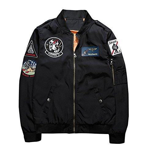 (ホワイトデー)WhiteDAY MA-1 カジュアル ジャンパー スタジャン ライダース バイク 秋 冬 ライダー ライダーズエムエーワンジャケット ミリタリフライトジャケット メンズ ジャケット (XL, ブラック)