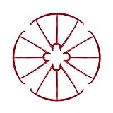 DronePost Anillo de Protección SYMA X5 X5C X5SC X5SCW Color Rojo Drone Protector 4 und (pr_052|Rojo|Syma X5)