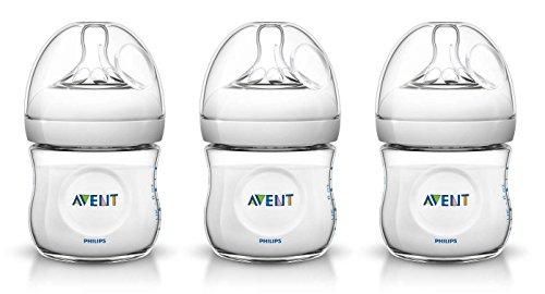 3 x Philips Avent Naturnah-Flasche / je 125 ml/ Bulk-Verpackt/ BPA frei/ 0-12 Monate/ Anti-Kolik-System/ Babyflasche