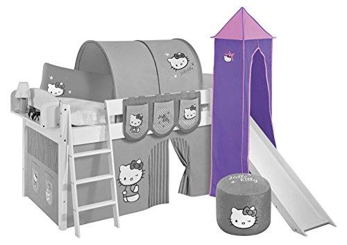 Turm Hello Kitty Lila - für Hochbett, Spielbett mit Rutsche