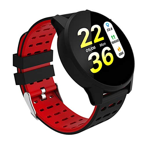 Pulsera Inteligente B2 Reloj Inteligente Regalo de Silicona Creativo Hombres y Mujeres Pulsera Deportiva al Aire Libre Podómetro (Negro Rojo)