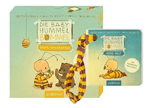 Ars Edition Die Baby Hummel Bommel - Erste Fingerspiele + Meine Welt: EIN Buggybuch, 2 herzerwärmende Pappbilderbücher
