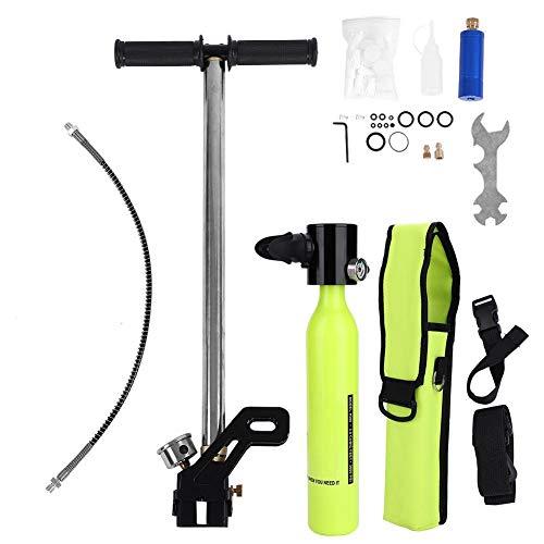 VGEBY1 Respirador portátil Cilindro de oxígeno Tanque + Kit de Buceo con Bomba de Alta presión con Estuche de Aluminio