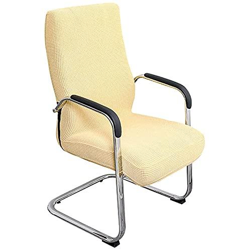PPOIU Fundas elásticas para sillas de Oficina Fundas Impermeables para sillas de Ordenador Fundas para sillas de Tela de Licra Ultra Suave para Fundas de sillón Giratorio Boss-Beige-Medi
