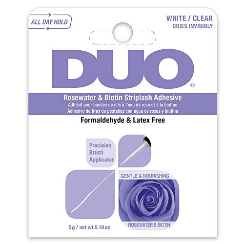 DUO Rosewater & Biotin Striplash Adhesive - Clear 5 g/net wt 0.18 oz (0.18 Ounce Net)