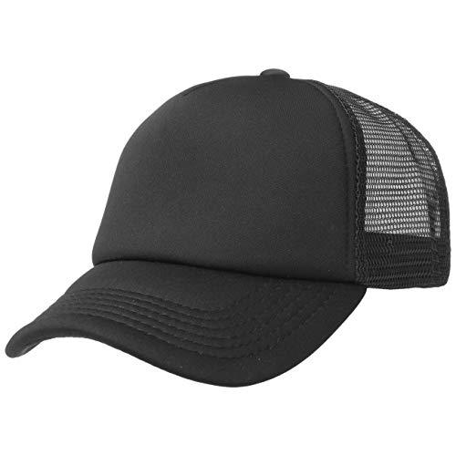 Hutshopping 70er Rapper Cap Truckercap Meshcap Kappe Mütze Basecap (One Size - schwarz-schwarz)