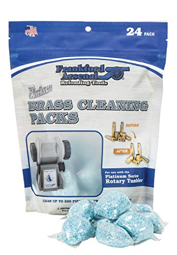 Frankford Arsenal Platinum Series 24 Count InstaClean Brass Cleaning Packs with Resealable Bag for Convenient Reloading Transport and Storage - Made in USA