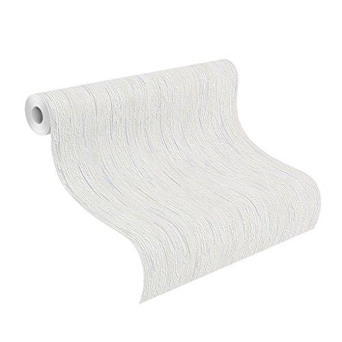 Rasch Tapeten Rasch Tapete auf Papier, Streifen in grau auf weiß, Get It Relief, 389401