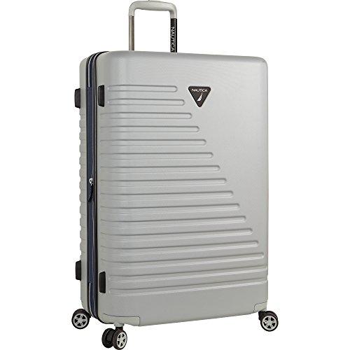 Nautica Ahoy Hardside Expandable 4-Wheeled Luggage-28 Inch Checked Size, Neutral Gray