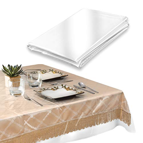 ELAINE KAREN Deluxe Collection Tischdeckenschoner, strapazierfähig, transparent 60