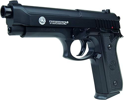 VIKING GEAR Airsoft Pistole Taurus PT 92 HPA-Serie mit Metallschlitten Kaliber 6 mm Federdruck  0.5 Joule, schwarz