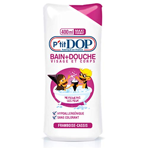 P'tit Dop - Bain + Douche Hypoallergénique Framboise-Cassis Maxi Format - 400 ml