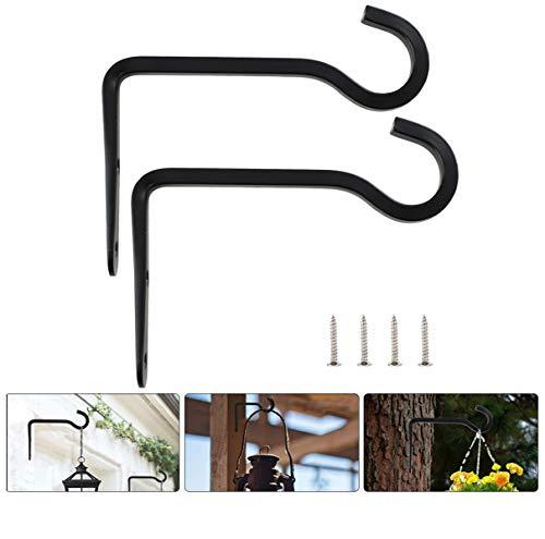 Richaa 2 Stück Wandhalterung für Hängekörbe, Pflanzenhalter zum Aufhängen für Pflanzen im Freien Metall Wandhaken für Blumenampel Wandhalterung Hängeampel