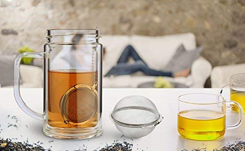 Stainless Steel Mesh Tea Ball 2.1 Inch Tea Infuser Strainers
