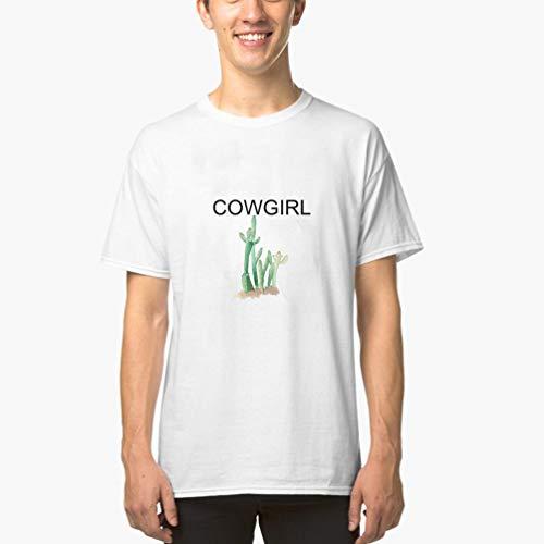 Camisetas Hombre Verano Camisas Camiseta de Cuello Redondo para Hombre Comical Cute Western Racerback para Hombre(Can Custom-Made Pattern) (Color : Blanco, Size : XL)