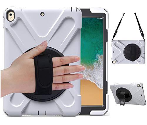 Herize iPad Pro 11 ケース 2018 ショルダー 肩掛け シリコン 360度 回転 ハンドホルダー スタンド ストラップ キャリー ゴム シリコン 三層 耐衝撃 防塵 丈夫 頑丈 片手 耐久 落下防止 キッズ 子供 ハード Apple ア