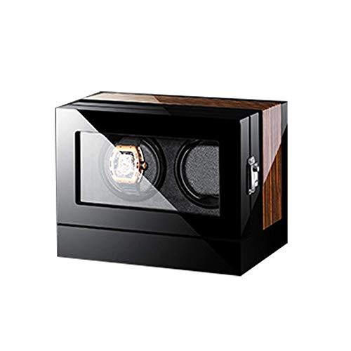 WXDP Enrollador de Reloj automático,Caja enrolladora automática de Pantalla táctil LCD con 5 Modos, Cajas de Almacenamiento con Interruptor en Sentido Hora