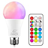 iLC 10W Lampadine Colorate Led Cambiare colore Lampadina Edison RGB E27 RGBW LED Lampadine...