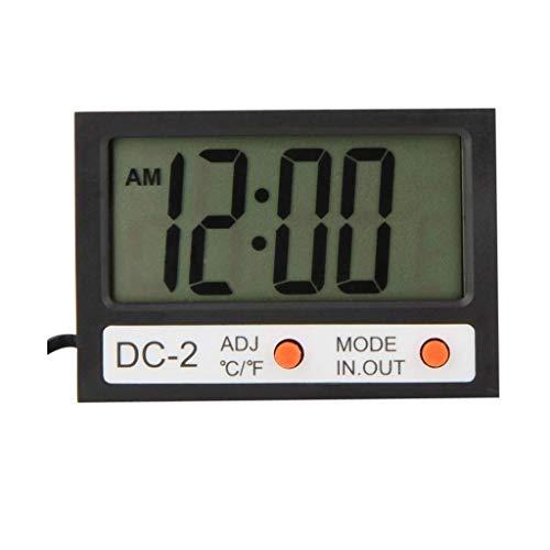 Inicio Monitoreo del Tiempo Relojes Mini reloj Multifuncional Medidor de Temperatura LCD Reloj de Tiempo Interior al Aire Libre Estación Meteorológica Tester Estaciones Meteorológicas