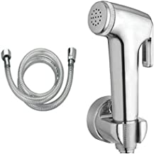 Stylera Conty Health Faucet Jet Toilet Spray Set with PVC Tube and ABS Wall Hook, 1.5 m, Chrome