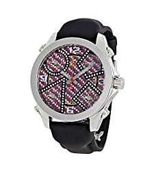 Five Time Zone Carbon Fiber Diamond Dial Watch JCM-93DA