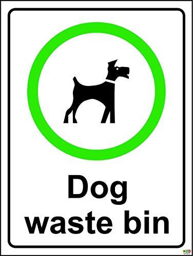 200mmx150mm hond afvalbak (zelfklevende sticker label teken)