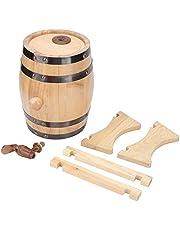 Biervat, 1,5 l huishouden mini grenenhout bier vat dispenser wijnvat aging barrel hout bier brouwinstallatie voor whisky bourbon tequila brouwkas