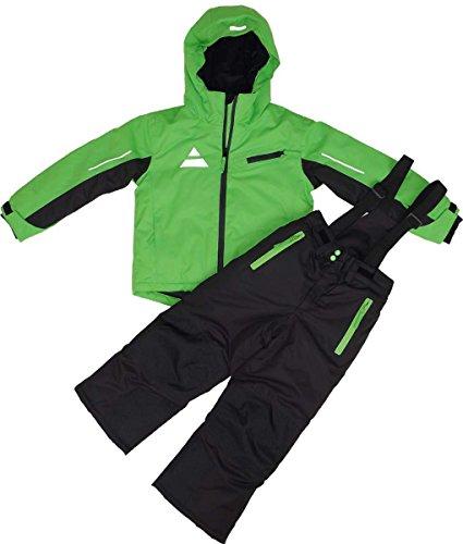Maylynn Softshell Kinder Skianzug Schneeanzug 2-teilig grün/schwarz, Größe:146-152
