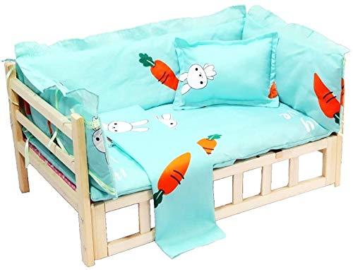Haustierbett Hundebett Großes Fressnapf Katzen Bett, Holz ist weit von der Erde, Modern Style Bettrahmen Möbeln Pet Betten & Matratzen (Farbe: Style1, Größe: L (95 × 55 × 40 cm)), Größe Name: S (56 ×