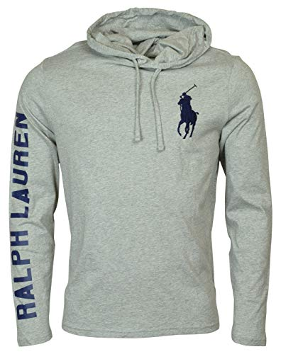 Polo Ralph Lauren Men's Long Sleeve Graphic Jersey Hoodie - M - Gray